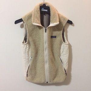 Cream Sheepskin Patagonia Vest